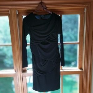 TOPSHOP Maternity black long sleeve mini dress